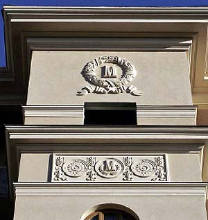 Деталь дворового фасада